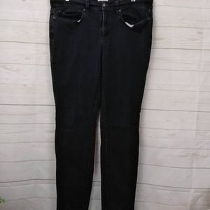 Eileen Fisher Black High Rise Skinny Jean 34